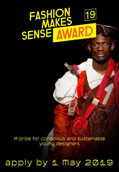 FASHIONCLASH OPENS APPLICATIONS FOR 'FASHION MAKES SENSE AWARD 2019'
