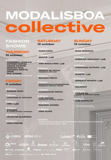 CREATIVITY EQUATION: MODALISBOA PRESENTS THE FASHION SHOWS SCHEDULE